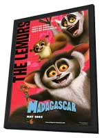 Madagascar - 11 x 17 Movie Poster - Style H - in Deluxe Wood Frame