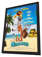 Madagascar - 27 x 40 Movie Poster - Style D - in Deluxe Wood Frame
