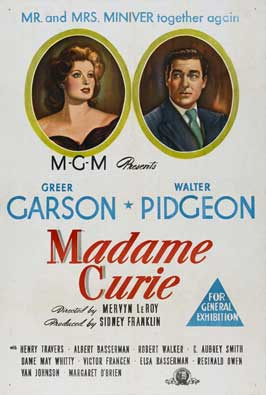 Madame Curie - 27 x 40 Movie Poster - Australian Style A