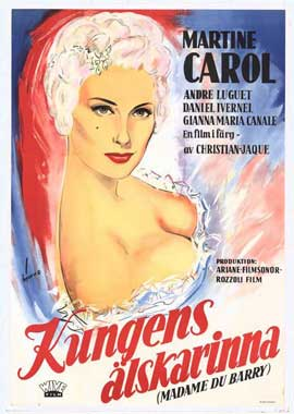 Madame du Barry - 27 x 40 Movie Poster - Swedish Style A