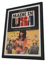 Made in U.S.A. - 27 x 40 Movie Poster - French Style A - in Deluxe Wood Frame