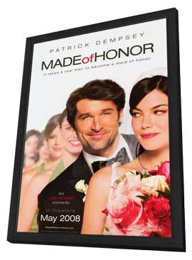 Made of Honor - 11 x 17 Movie Poster - Style A - in Deluxe Wood Frame