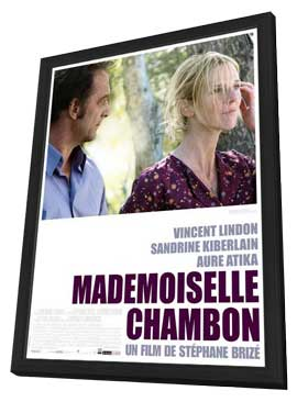 Mademoiselle Chambon - 27 x 40 Movie Poster - French Style A - in Deluxe Wood Frame