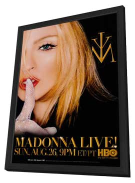 Madonna - 11 x 17 Music Poster - Style A - in Deluxe Wood Frame
