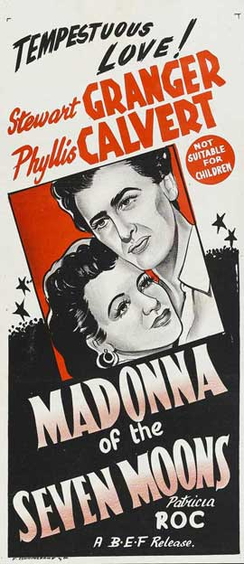 Madonna of the Seven Moons - 13 x 30 Movie Poster - Australian Style A