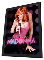 Madonna: The Confessions Tour Live from London - 11 x 17 Movie Poster - Style A - in Deluxe Wood Frame