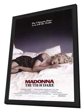 Madonna Truth or Dare - 27 x 40 Movie Poster - Style A - in Deluxe Wood Frame