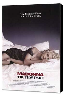 Madonna Truth or Dare - 27 x 40 Movie Poster - Style A - Museum Wrapped Canvas
