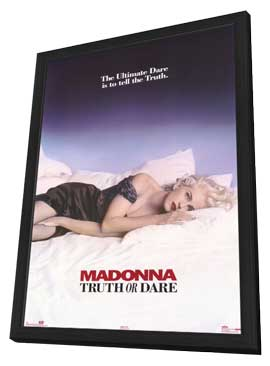 Madonna Truth or Dare - 11 x 17 Movie Poster - Style B - in Deluxe Wood Frame