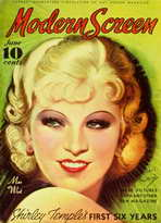 Mae West - 11 x 17 Modern Screen Magazine Cover 1930's Style B