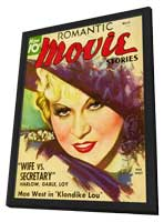 Mae West - 11 x 17 Romantic Movie Stories Magazine Cover 1930's Style B - in Deluxe Wood Frame