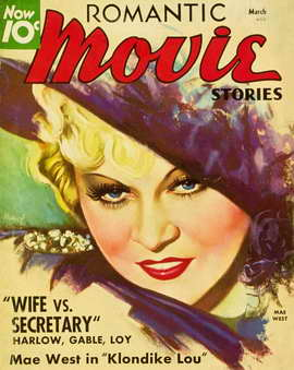 Mae West - 11 x 17 Romantic Movie Stories Magazine Cover 1930's Style B