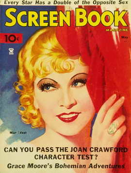 Mae West - 11 x 17 Screen Book Magazine Cover 1930's
