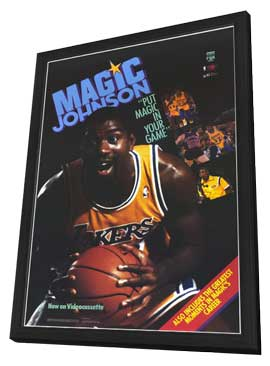 Magic Johnson - 27 x 40 Movie Poster - Style A - in Deluxe Wood Frame