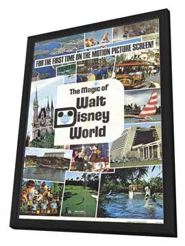 Magic of Walt Disney World - 27 x 40 Movie Poster - Style A - in Deluxe Wood Frame