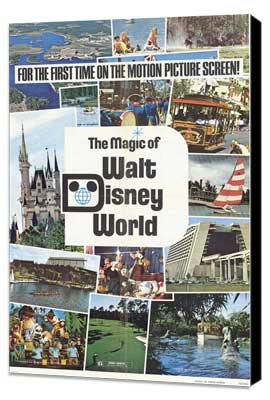 Magic of Walt Disney World - 27 x 40 Movie Poster - Style A - Museum Wrapped Canvas