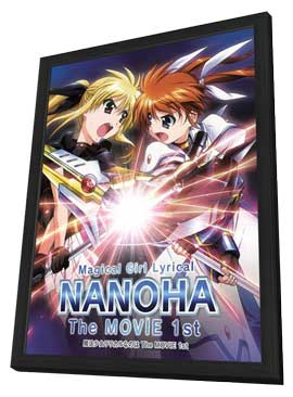 Magical Girl Lyrical Nanoha (TV) - 11 x 17 TV Poster - Japanese Style D - in Deluxe Wood Frame