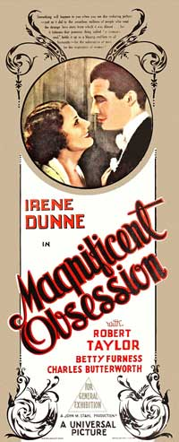 Magnificent Obsession - 13 x 30 Movie Poster - Australian Style A