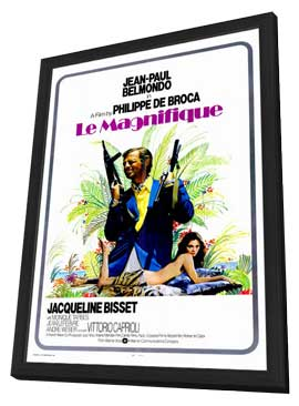 Le Magnifique - 11 x 17 Movie Poster - Style B - in Deluxe Wood Frame