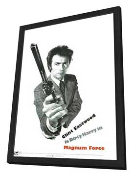 Magnum Force - 27 x 40 Movie Poster - Style D - in Deluxe Wood Frame