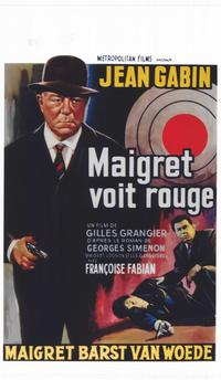 Maigret Sees Red - 14 x 22 Movie Poster - Belgian Style A