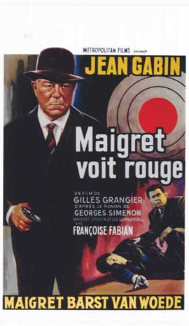 Maigret Sees Red - 11 x 17 Movie Poster - Belgian Style A