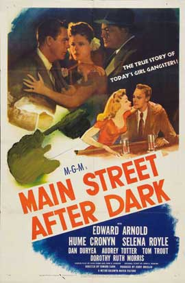 Main Street After Dark - 11 x 17 Movie Poster - Style A
