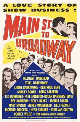 Main Street to Broadway - 27 x 40 Movie Poster - Style A