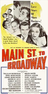 Main Street to Broadway - 14 x 36 Movie Poster - Insert Style A