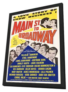 Main Street to Broadway - 11 x 17 Movie Poster - Style A - in Deluxe Wood Frame