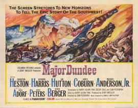 Major Dundee - 22 x 28 Movie Poster - Half Sheet Style A
