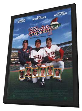 Major League 2 - 11 x 17 Movie Poster - Style A - in Deluxe Wood Frame