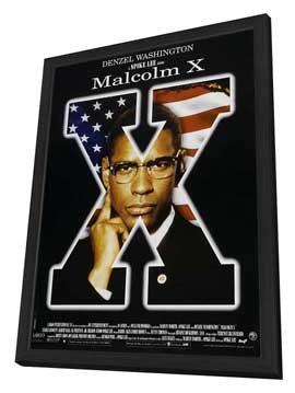 Malcolm X - 27 x 40 Movie Poster - Style D - in Deluxe Wood Frame