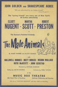Male Animal, The (Broadway) - 11 x 17 Poster - Style A
