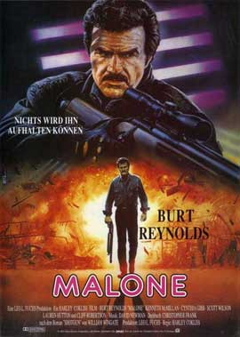 Malone - 11 x 17 Movie Poster - German Style A