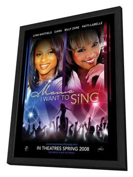 Mama, I Want to Sing! - 11 x 17 Movie Poster - Style A - in Deluxe Wood Frame