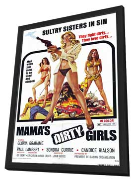 Mama's Dirty Girls - 11 x 17 Movie Poster - Style A - in Deluxe Wood Frame