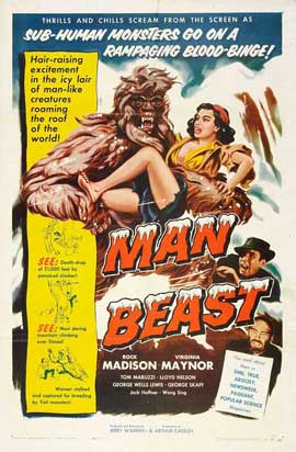 Man Beast - 11 x 17 Movie Poster - Style A