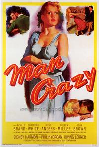 Man Crazy - 43 x 62 Movie Poster - Bus Shelter Style A