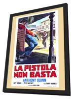 Man from Del Rio - 11 x 17 Movie Poster - Italian Style A - in Deluxe Wood Frame