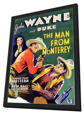 Man from Monterey - 11 x 17 Movie Poster - Style B - in Deluxe Wood Frame