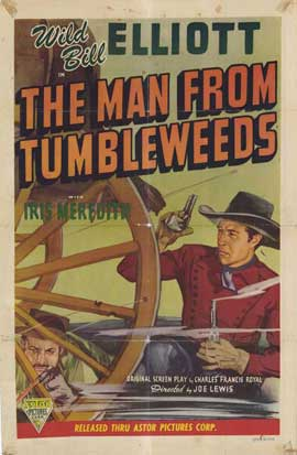 The Man from Tumbleweeds - 27 x 40 Movie Poster - Style A