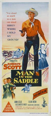 Man in the Saddle - 13 x 30 Movie Poster - Australian Style A