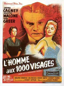 Man of a Thousand Faces - 11 x 17 Movie Poster - French Style B