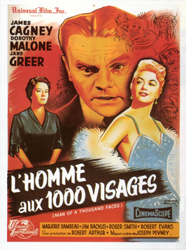 Man of a Thousand Faces - 27 x 40 Movie Poster - French Style A