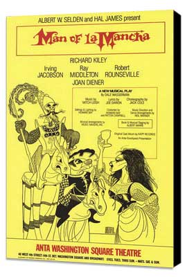 Man Of La Mancha (Broadway) - 11 x 17 Poster - Style C - Museum Wrapped Canvas