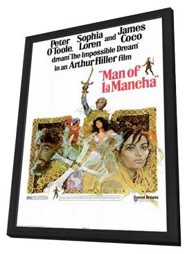 Man of La Mancha - 11 x 17 Movie Poster - Style A - in Deluxe Wood Frame