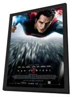 Man of Steel - 11 x 17 Movie Poster - Style C - in Deluxe Wood Frame