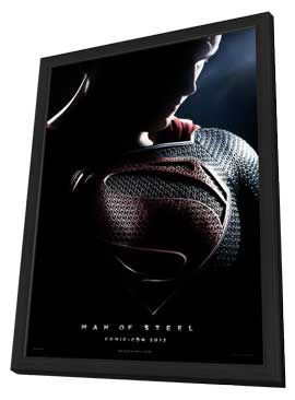 Man of Steel - 11 x 17 Movie Poster - Style A - in Deluxe Wood Frame