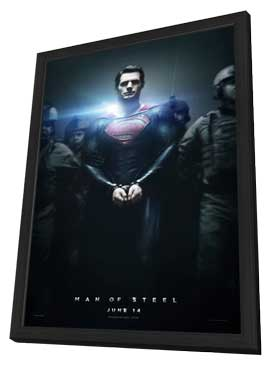 Man of Steel - 11 x 17 Movie Poster - Style B - in Deluxe Wood Frame